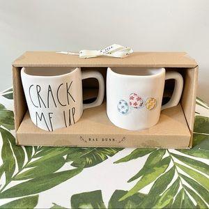 NEW Rae Dunn Crack Me Up Mug Set
